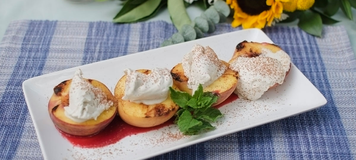 Grilled Peaches - image by Lisa Missenda