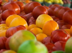 Tomatoes at a Farmers Market - image by Lisa Missenda